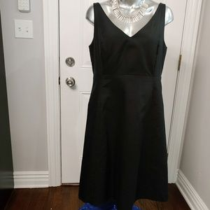 J.CREW BLACK COTTON DRESS SIZE 16